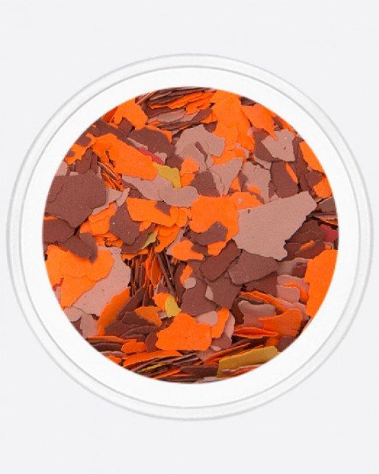 Акрил раскатанный оранжевый, темно-коричневый, светло-коричневый