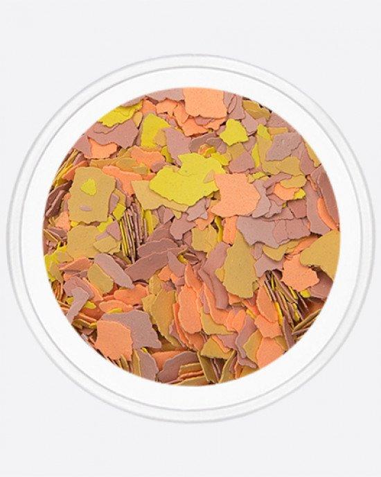 Акрил раскатанный оранжевый, желтый, бежевый