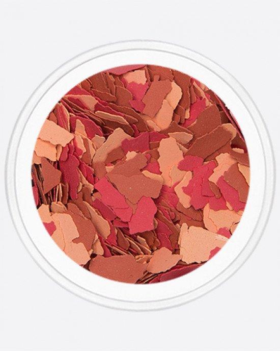 Акрил раскатанный красный, оранжевый, коричневый