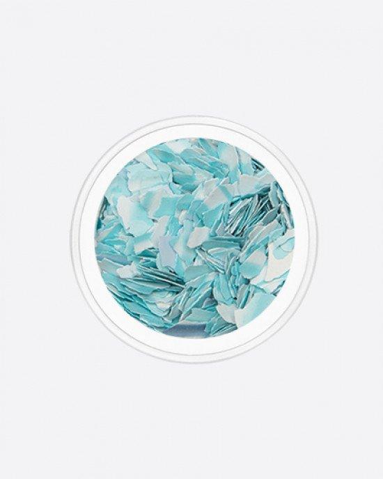 Акрил раскатанный белый с голубым