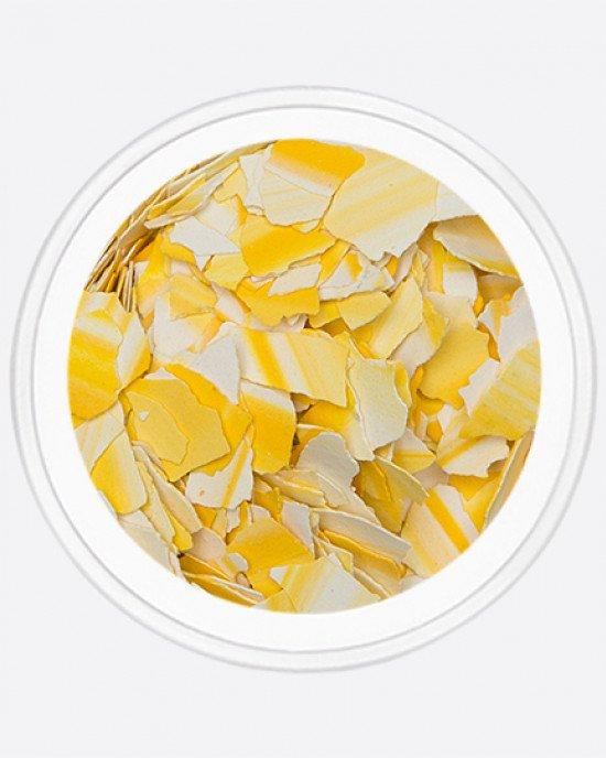 Акрил раскатанный желтый с белым