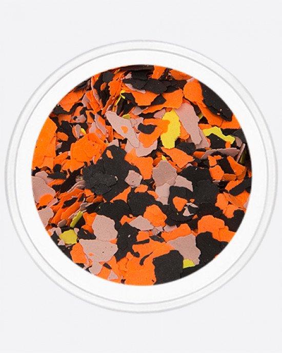 Акрил раскатанный черный, оранжевый, серый