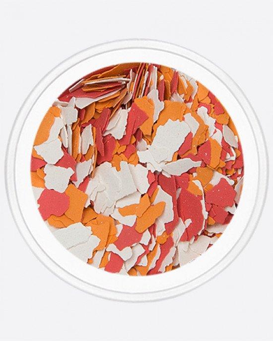 Акрил раскатанный красный, оранжевый, белый