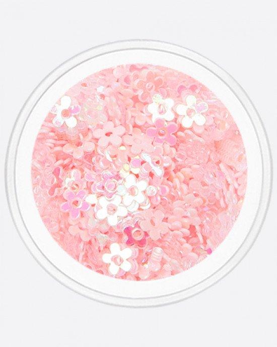 Цветочек с дыркой светло-розовый перламутр