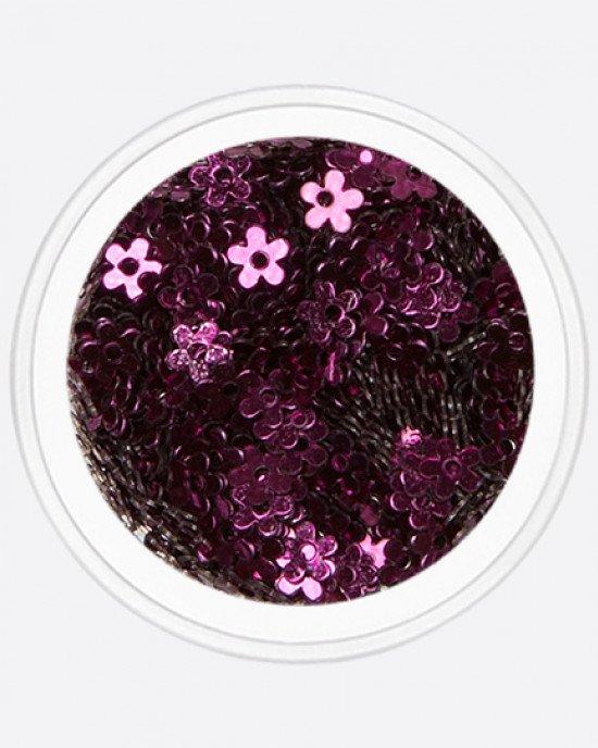 Цветочек с дыркой темно-фиолетовый