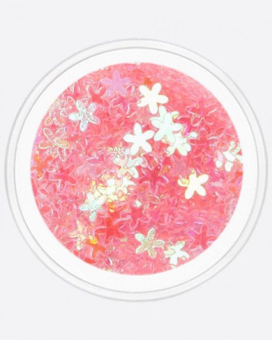 Цветочек тонкий прозрачно-розовый перламутр