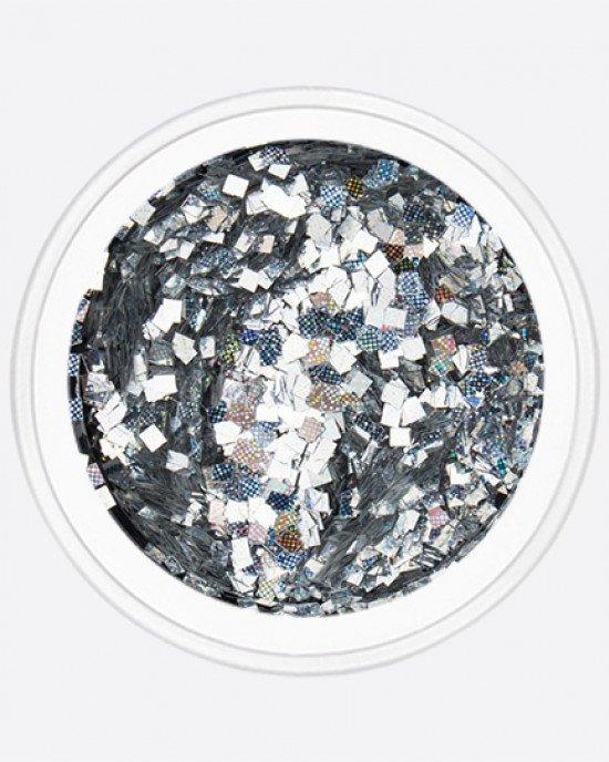 Пиксель квадрат серебро голограмма