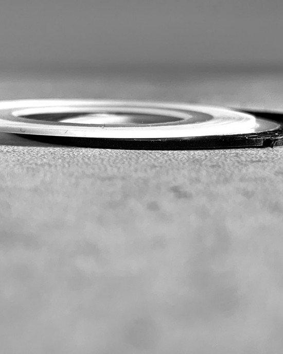 Лента клейкая трафарет черная 1 мм