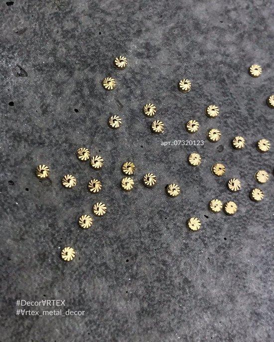 Диск граненный золото 2х2 мм