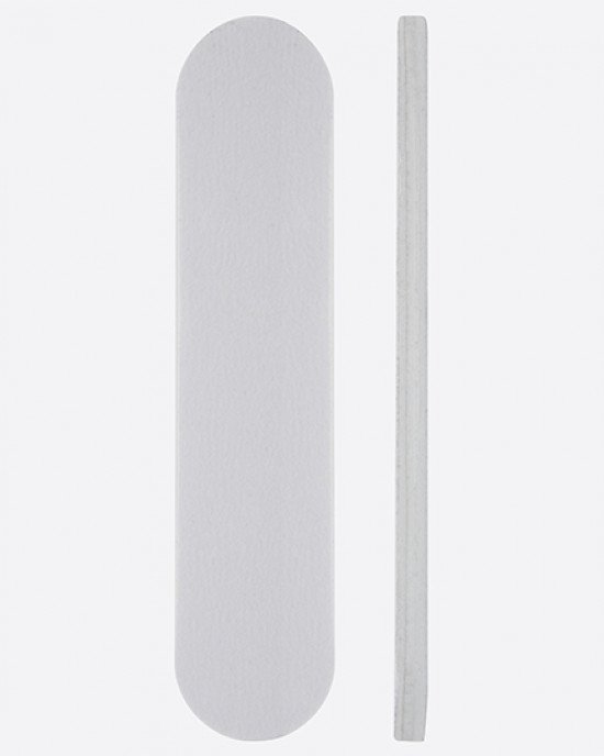 Пилка белая мини овал 90х19х3мм 180/220 грит