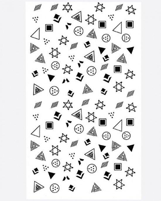 Наклейки, геометрия знаки черные 223