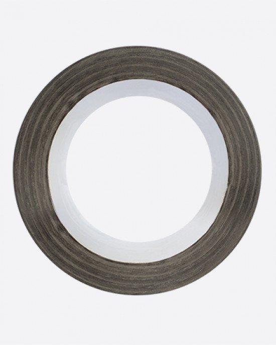 Лента клейкая трафарет черная 2 мм