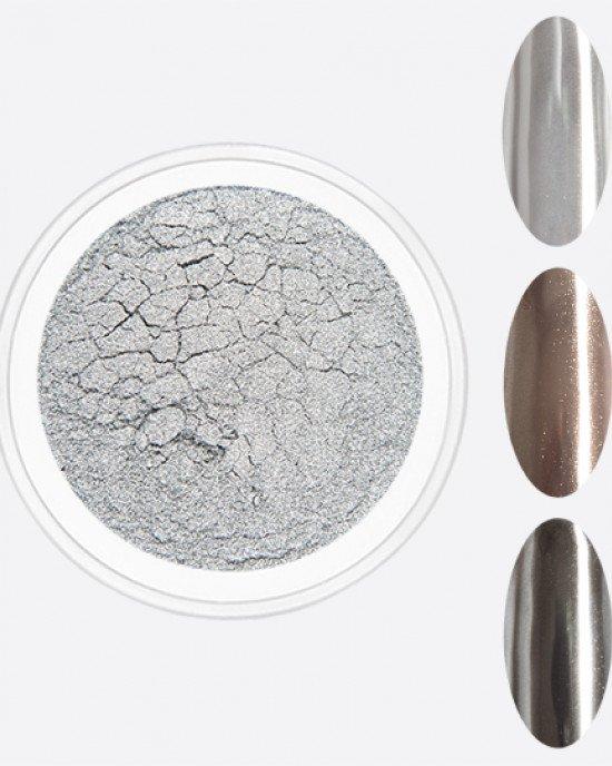 Зеркальная пыль жемчужное серебро (втирка)