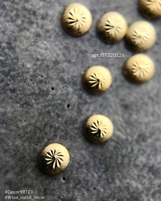 Диск шлифованный с узором золото 3х3мм