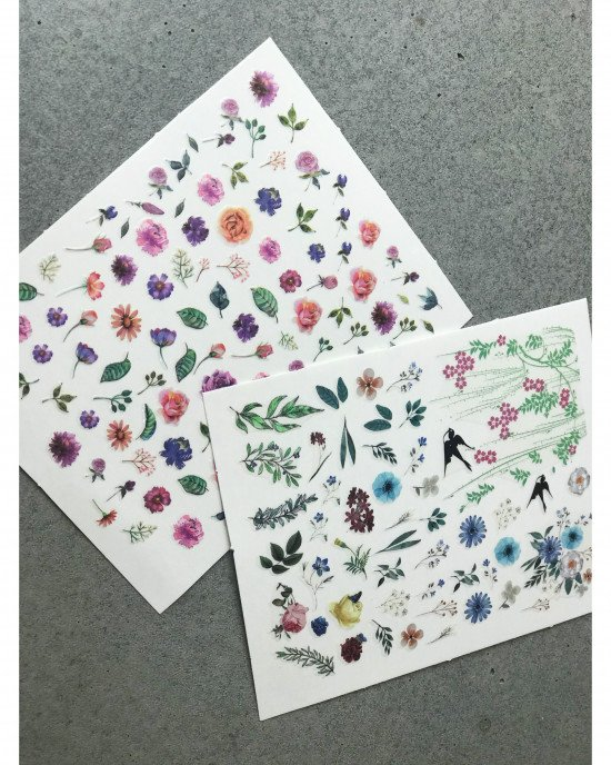 Наклейки, цветы 382