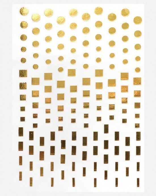 Наклейки, геометрия золото 091