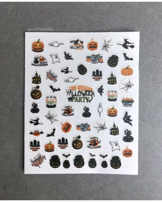 Наклейки, хэллоуин праздник 386