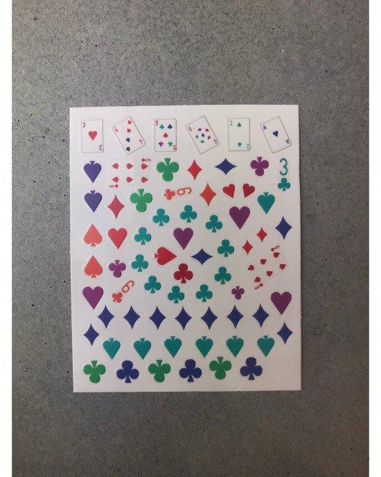 Наклейки, карты цветные 381