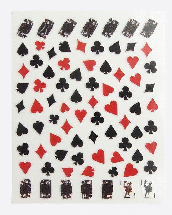 Наклейки, карты красные и черные 380