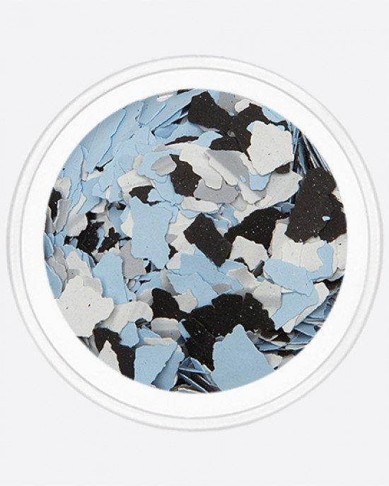 Акрил раскатанный черный, белый, голубой