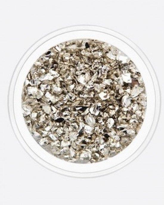 Стеклянная крошка серебро
